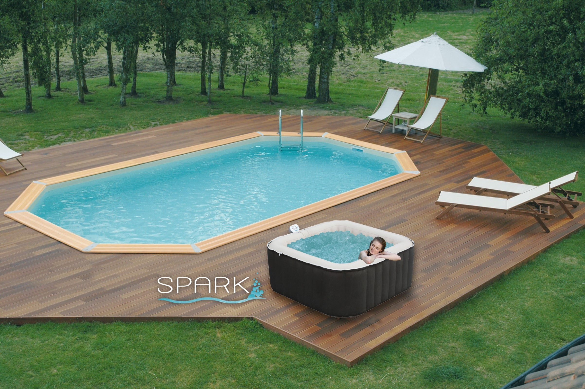 Jacuzzi gonflable prix for Prix moyen piscine enterree