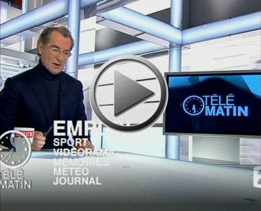Cheminée design bio éthanol modern dual black neoflame dual frame style sublima solution-d www.solution-d.com T&eacutelé Matin France 2